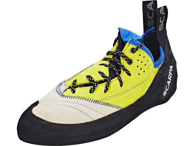 Scarpa Velocity L Chaussons d'escalade Homme, lightgray/lime fluo